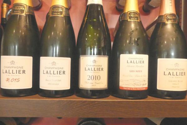 Menu soirée Champagne Lallier du vendredi 06 décembre ,accords mets et vins .