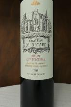 Magnum Bordeaux rouge Cadillac château de Ricaud 2015 150 cl